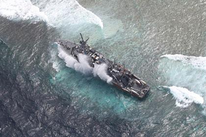 Севший на мель USS Guardian