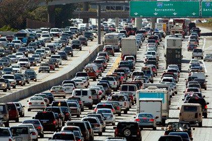Автомобильная пробка в США