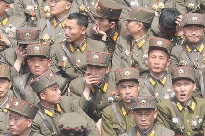Военнослужащие Народной армии КНДР