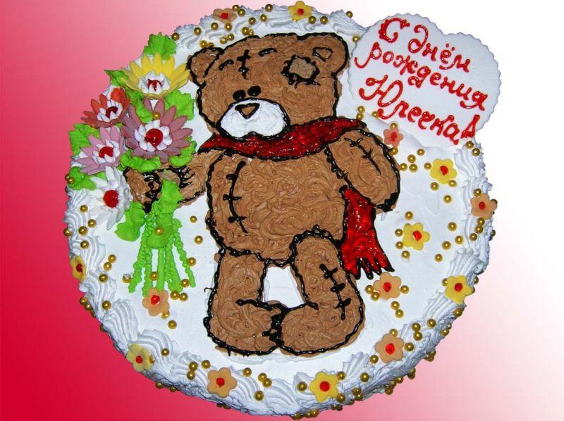 Как украсить детский торт на день рождения своими руками